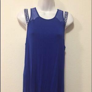 Blue Tunic Top w/Sparkle-Size M